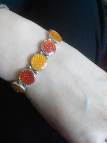 bracelet fantaisie orange