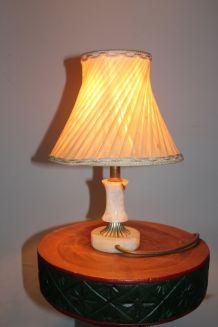 Lampe de chevet vintage en albâtre