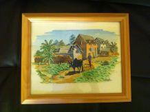 "6 aquarelles encadrées ""paysages de Madagascar"""