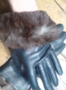 Superbes gants neufs bleu pétrole 7 1/2 femme