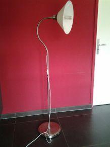 Luminaire sur pied abatjour verre moderne et vintage
