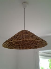 Suspension en osier tresse moderne