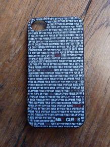 Coque De Téléphone Portable Noir Avec Écriture En Blanc- Matt Curtis