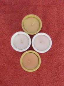 4 Bougies Parfumées En Pots Dans Leur Jardinière à Accrocher