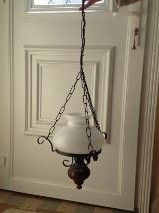 Suspension globe en verre blanc