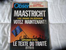 Le Nouvel Observateur Juin 1992 texte du traité de Maastricht