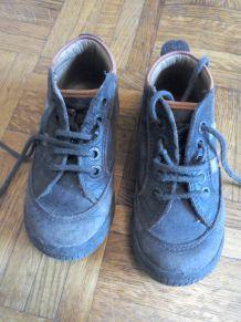 Chaussures garçon Aster marron pointure 24