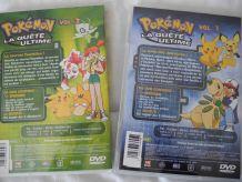 """2 DVD Pokémon """"La quête ultime"""" N° 1 et 2"""