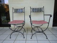 Table et chaises fer forgé