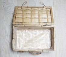 petit boîte / valise en osier