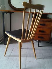 chaise vintage pieds compas