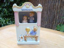 Boîte à musique Guignol en céramique