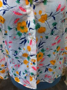 chemise années 70, vintage neuf