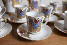 service à café avec sucrier et pot à lait