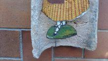 Tuile décorée