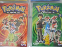 2 DVD Pokémon Advance 1 et 2