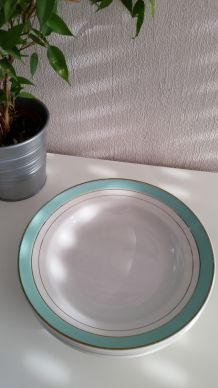 Lot de 6 Assiettes creuses mint