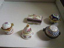 Piluliers porcelaine