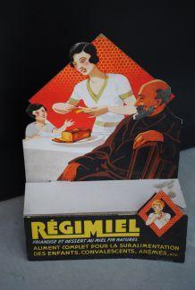 Publicité présentoir carton Régimiel