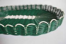 plateau scoubidou vert vintage