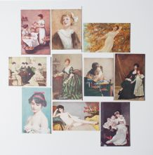 lot de cartes postales de collection