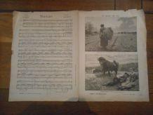VIEUX PAPIER 1893 supplément aux anales politiques et littéraires CHAMPS-ELYSEES L'EXPOSITION DE CHARLET STANCES