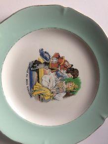 3 assiettes porcelaine Saint Amand