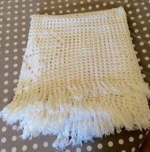 ancien couvre lit en coton fait main grande dimension