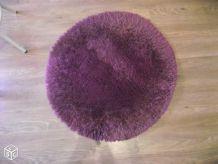 Tapis rond violet