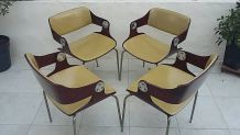 "Lot de 4 Eugen Schmidt ""sthul chair"" de 1966"