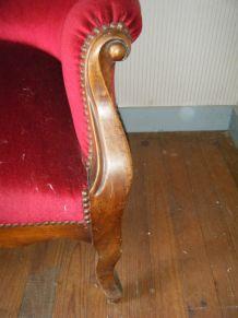 Canapé d'époque Louis Philippe Noyer