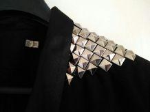 Veste Kookai noir avec empiècements argentés