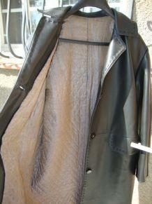 manteau ancien en cuir T 42-44