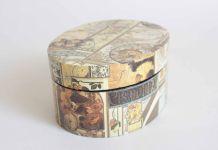 boîte à bijoux aux dessins art déco