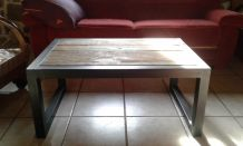 Table basse style industrielle