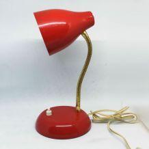 Lampe col de cygne 60s rouge