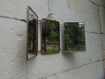 miroir barbier triptyque