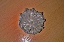 Panier miniature pour poupée ancienne en métal argenté, à voir!