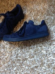 Stan Smith bleues en daim