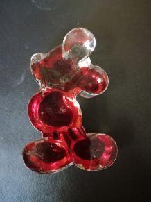 Mickey Mouse en verre vintage