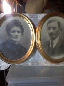 cadres couple  anciens aïeuls