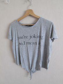 T shirt gris kiabi