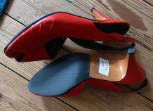 Escarpins cuir rouge 36