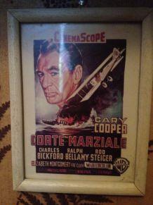 Affiche de cinéma , encadré en bois