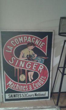 Plaque publicitaire Singer