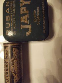 lot boites anciennes métal japy et encre noire