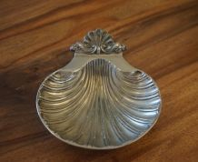 Vide poche en métal argenté