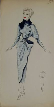 Croquis Mode 1950  / Manteaux