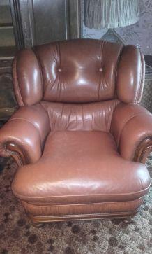 2 fauteuils cuir