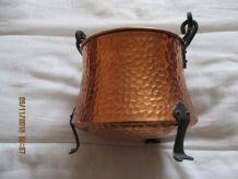 Chaudron de deco en cuivre années 50